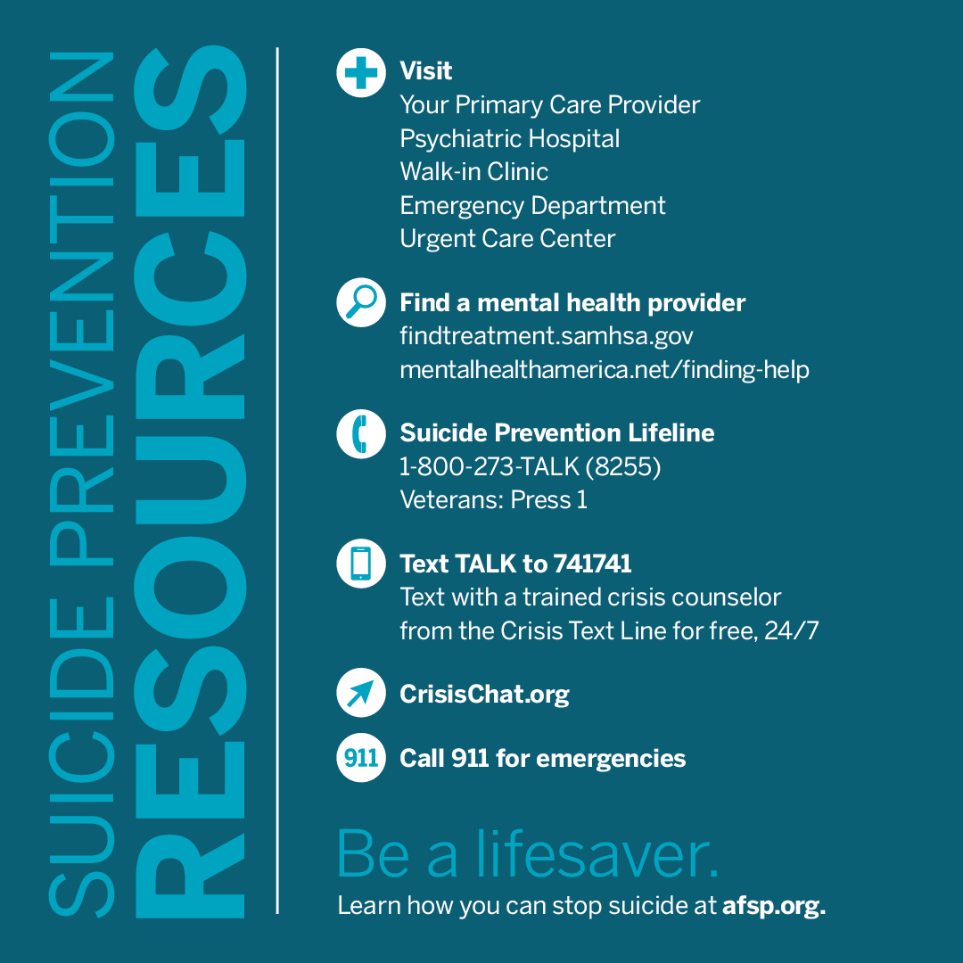 grief counselors and the prevention of suicide The 24-hour grief counseling hotline provides support to the recently bereaved in  marin county the grief hotline is part of suicide prevention.